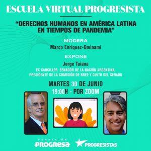 Ex canciller argentino expondrá en taller de Marco Enríquez-Ominami sobre derechos humanos en tiempos de Covid-19