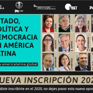 """Curso Internacional """"Estado, Política y Democracia en América Latina"""", abrió nuevos cupos para inscribirse durante 2021"""